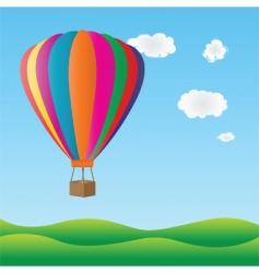 hot air birthday balloon vector image vector image