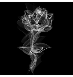 Realistic Smokey Rose Isolated on Black vector image vector image
