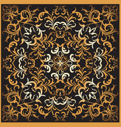 square gold pattern vector image