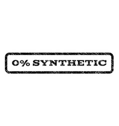 0 percent synthetic watermark stamp vector