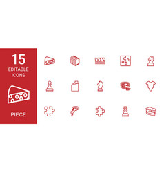 15 piece icons vector image