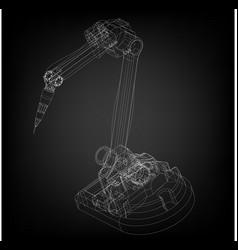 3d model of a welding robot vector