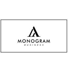 Aa or ma logo design template vector