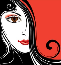 Abstract Background with Ladies Face vector