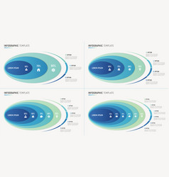 abstract chart infographic templates vector image