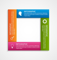 Abstract square options infographics template vector