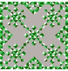 abstract triangle snowflake pattern in green vector image