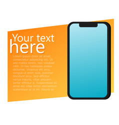 Ads banner with phone advertisements for your app vector