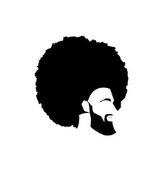 african black man portrait with afro curly design vector image