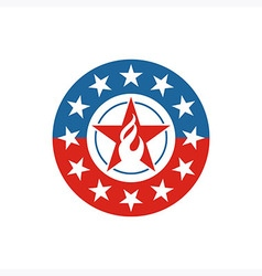 America star circle usa logo icon vector