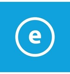 Basic font for letter E vector