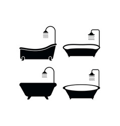 Bathtub icon design template isolated vector