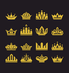 Big set of crowns vector