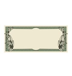 bill dollar print seal isolated icon vector image vector image