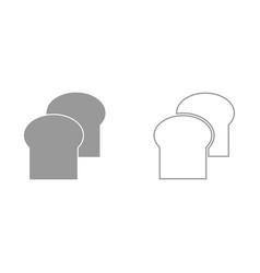 bread it is black icon vector image