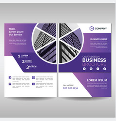business brochure cover layout template with vector image