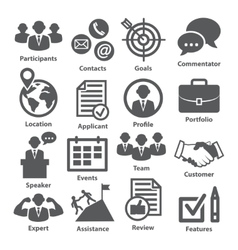 Business management icons Pack 25 vector