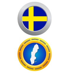 button as a symbol SWEDEN vector image