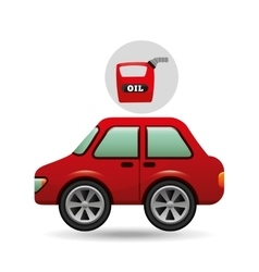 Car gallon oil red icon vector