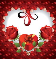 Card to Valentines Day vector image