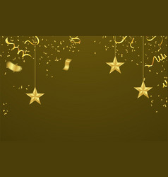 celebrated with ornamental stars of gold confetti vector image