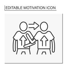 Change motivation line icon vector
