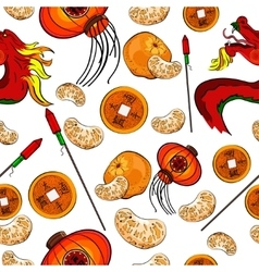 Chinese New Year pattern vector image