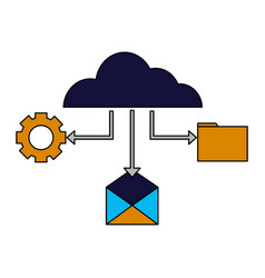 cloud computing email file setting vector image