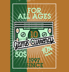 Color vintage bord games banner vector