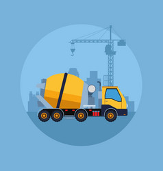 Construction vehicle cartoon vector