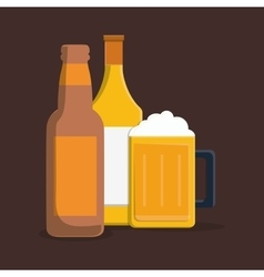 Delicious cold beer vector