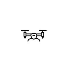 drone aircraft icon vector image