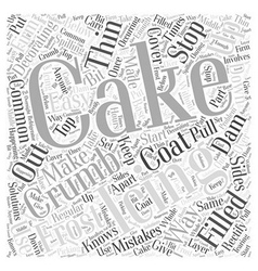 Easy solutions to common cake decorating mistakes vector