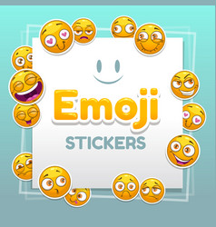 Emoji stickers background abstract background vector