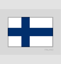 Flag of finland national ensign aspect ratio 2 to vector