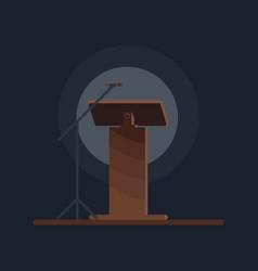 flat design in icon lectern symbol vector image
