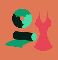 Flat icon on stylish background fabric diagram vector