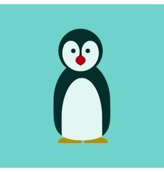 flat icon stylish background Emperor penguins vector image