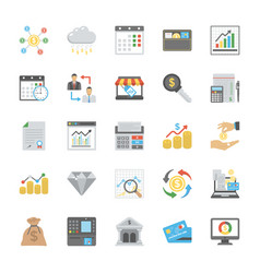 flat set of finance icons vector image