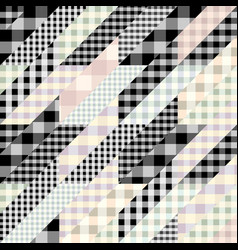 geometrical patchwork pattern vector image
