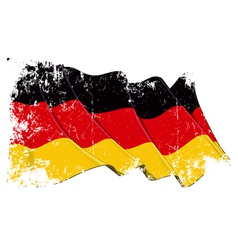 Germany National Flag Grunge vector