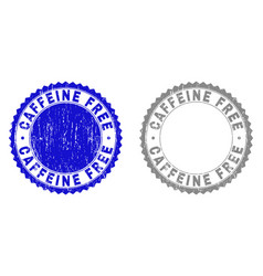 grunge caffeine free textured stamp seals vector image
