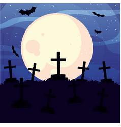 Halloween graves design icon vector