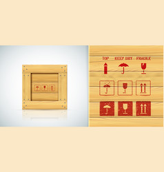 handle with care stencils icon set for vector image