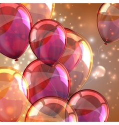 Holiday background with flying multicolored vector