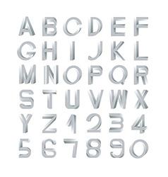 Impossible font set vector image