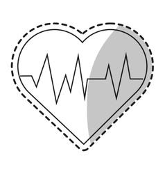 Isolated heart pulse design vector