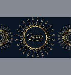 Luxury golden mandala art premium background vector