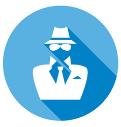 man in suit secret service agent icon a long vector image