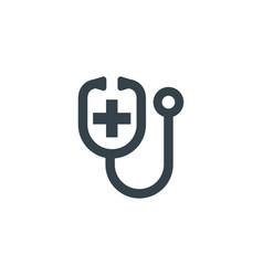 medic stethoscope concept logotype template design vector image
